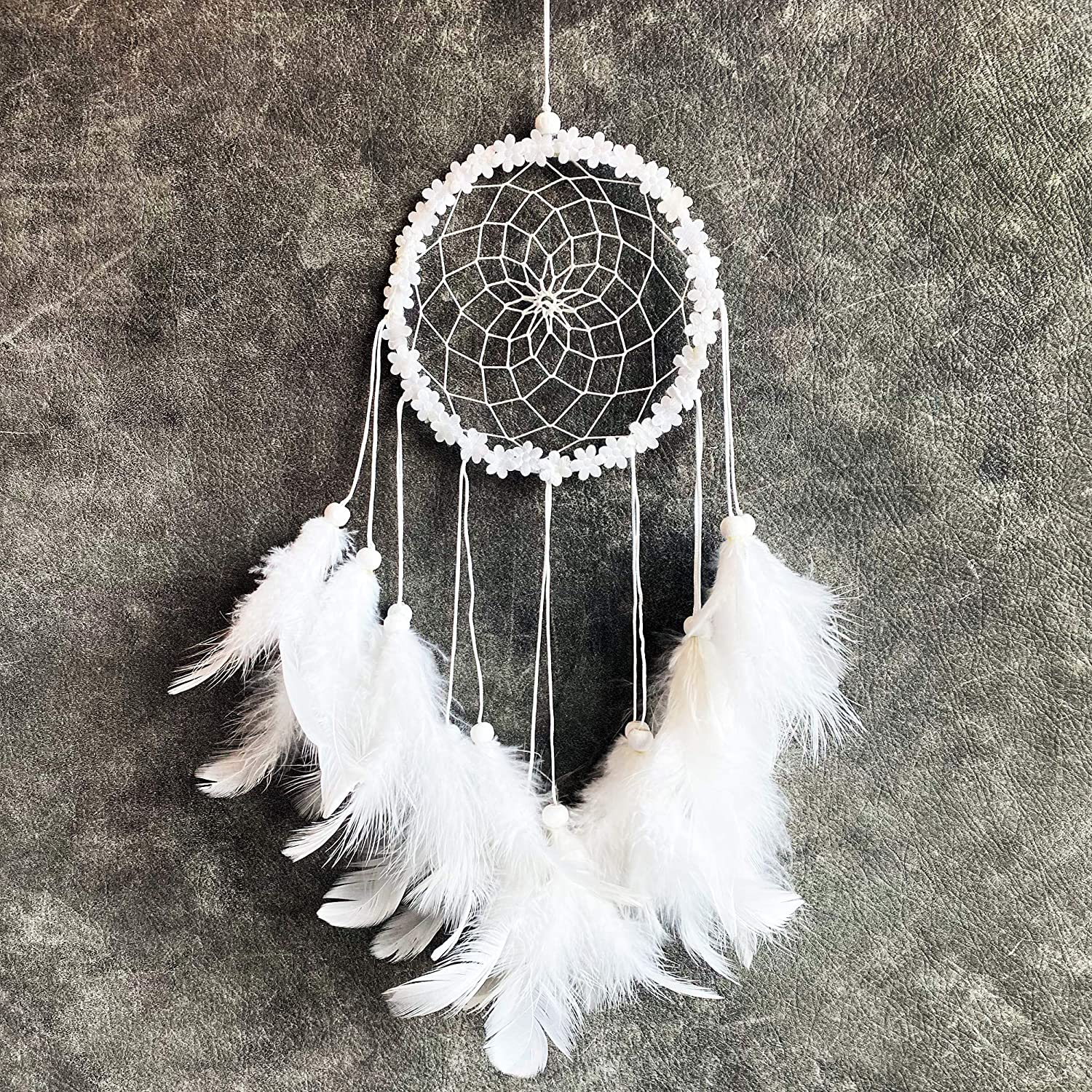 Dream Catchers for Bedroom Decor – White Color Native American Handmade Home Wall Hanging Decoration Ornament Craft Gifts for Parents & Kids in Brown Blue Purple Multi Design Suit Balcony & Car Charm