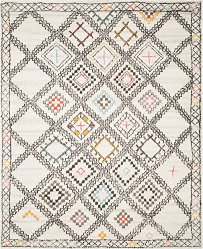 Safavieh Kenya Collection KNY822A Handmade Natural and Multi Premium Wool Area Rug 9' x 12'