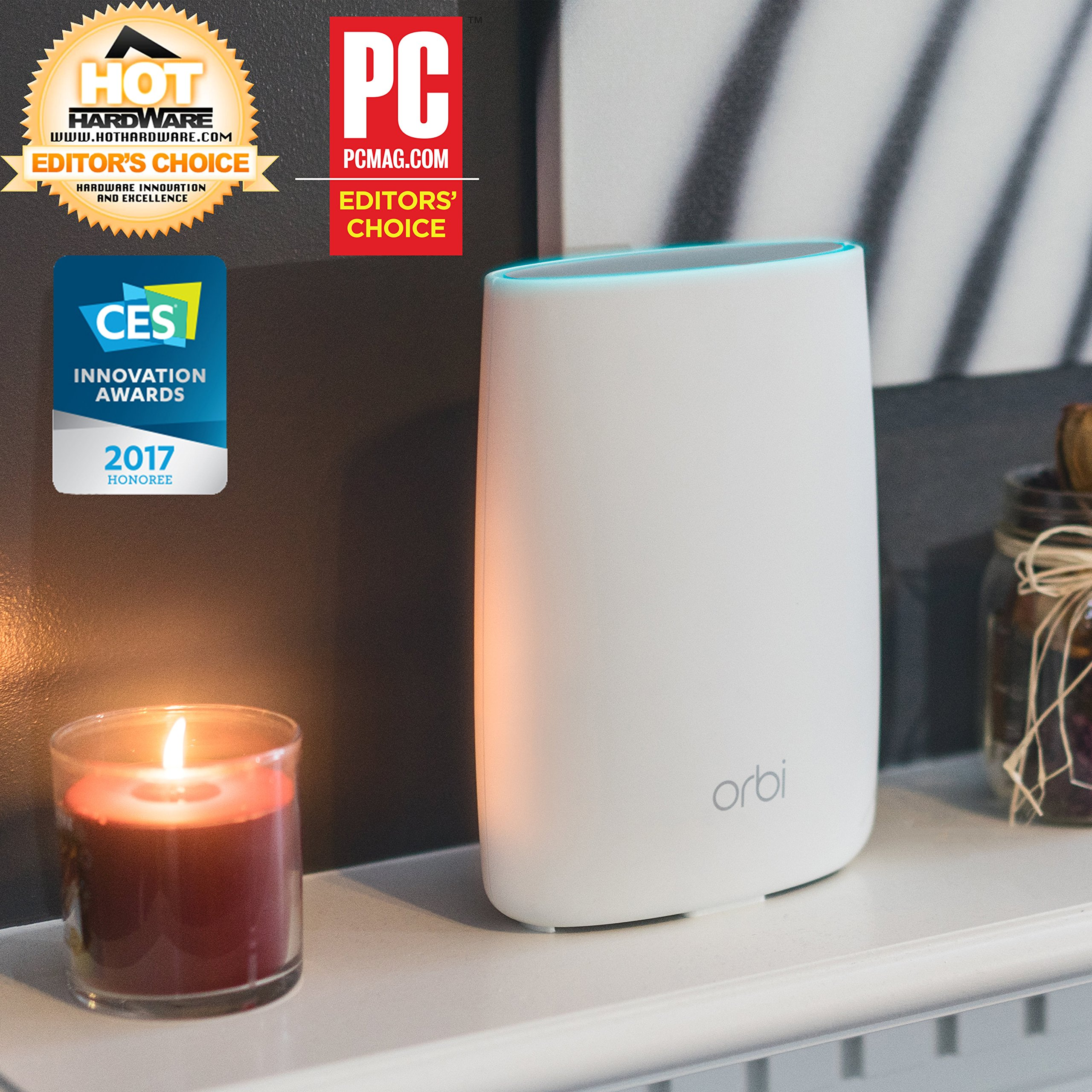 NETGEAR Orbi Whole Home Mesh WiFi System with Tri-band – Eliminate WiFi dead zones, Simple setup, Single network name, Works with Amazon Alexa, Up to 5,000 sqft, AC3000 (Set of 2) by NETGEAR (Image #2)
