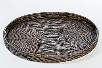 Superior Artifacts Rattan Oval Tray With Cutout Handles