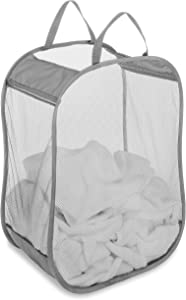 Whitmor Pop and Fold Laundry Bag, Paloma Gray