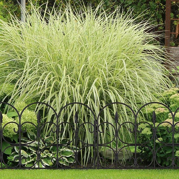 Relaxdays Set de Seis Vallas Decorativas para jardín, Altura de 30 cm, Longitud de 4 m, Negro: Amazon.es: Jardín