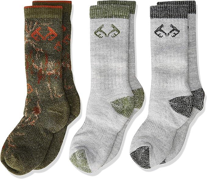 Realtree Kids Boys Girls Merino Blend Boot Socks 2 Pair Pack