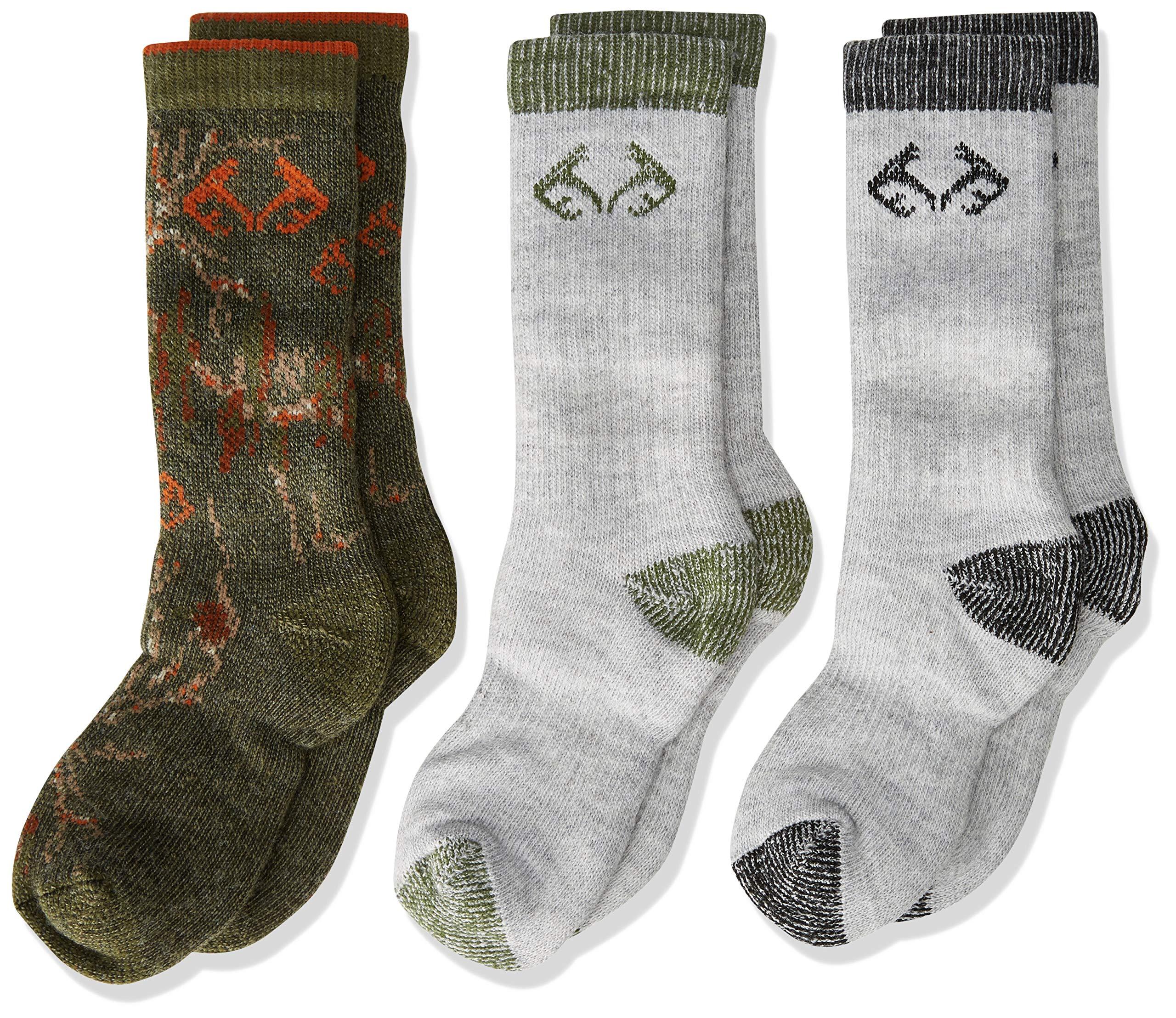 Realtree Boy's Mid Calf Socks Gift Box (3-Pair Pack) by Realtree