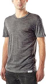 Woolly Clothing Men's Merino Ultralight Crew - Moisture Wicking, Anti-Odor, Casual Athletic wear