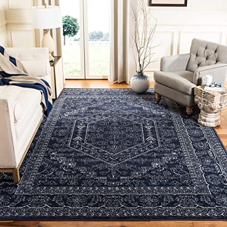 Amazon Com Safavieh Adirondack Collection Adr108n Oriental Medallion Area Rug 6 X 9 Navy Ivory Furniture Decor