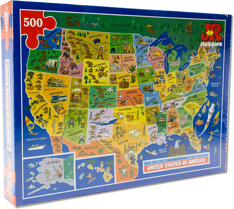 USA Map Jigsaw Puzzle by James Hamilton Grovely
