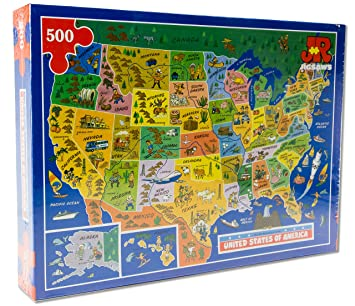USA Map Jigsaw Puzzle By James Hamilton Grovely Amazoncouk - Usa map jigsaw puzzle
