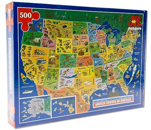 USA Map Jigsaw Puzzle By James Hamilton Grovely Amazoncouk - Us map jigsaw puzzle
