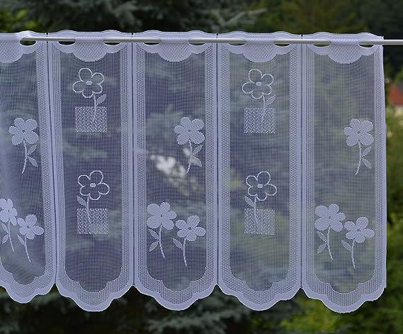 Gustav Gerster – Visillo a medida flor corta – se puede acortar individualmente en el ancho – altura 45 cm – Ancho de la cortina por unidades en pasos de 14 cm