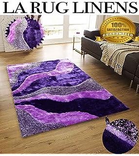 home shimmer shag purple lavender lilac violet area rug handtufted hand made