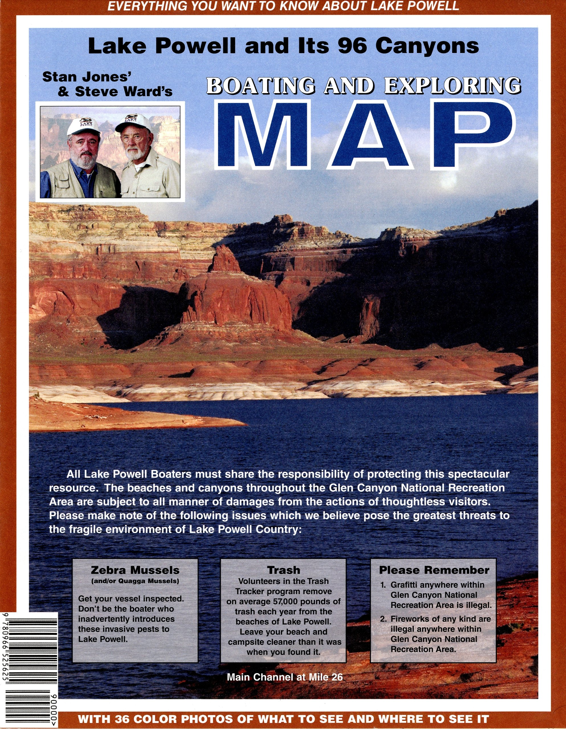 Lake Powell and Its 96 Canyons Boating and Exploring Map by Sun Country Publications