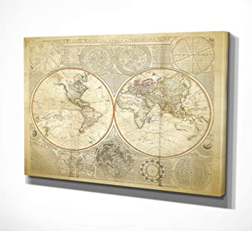 Amazon wexford home vintage world map ii canvas art 24 x 32 wexford home quotvintage world map iiquot canvas gumiabroncs Choice Image