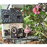 Fairy Garden Kit with Fairy Lights: House with door that opens, Enchanted Walkway and Standing Fairy Deluxe Set use indoor or outdoor
