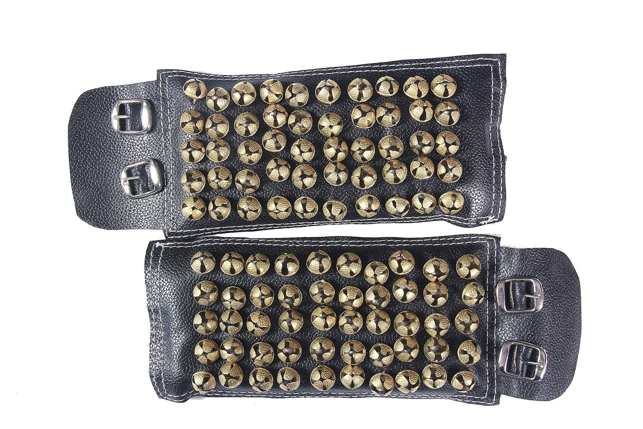 fashionAtelier 5 line Leather Bharatanatyam anklets bells Ghungroo(510 ghungroo)