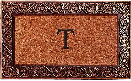 Home More 10003BRNZT Prestige Bronze Monogram Doormat Letter T