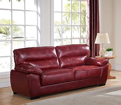 SC Furniture Ltd Sofá de 3 Plazas Oxsang, de Piel de Alta ...