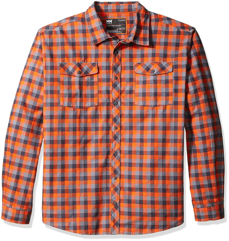 Helly Hansen作業着メンズBig and Tallバンクーバー格子柄シャツ B015F07CQY  Dark Orange Check XXXX-Large