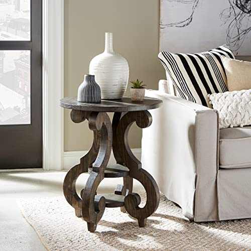 Magnussen Bellamy Round Accent End Table, 26 x 22 x 22
