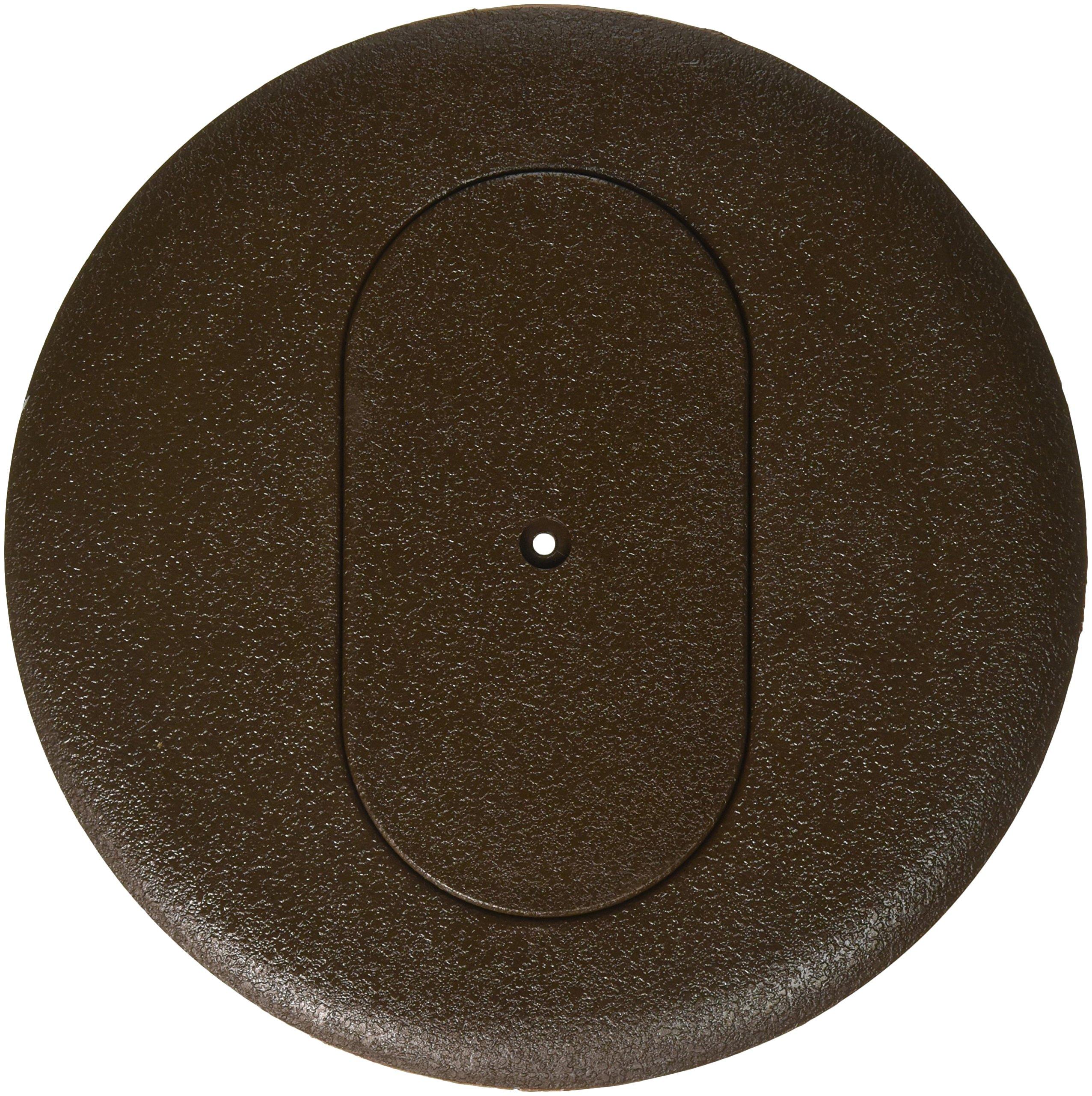 Thomas & Betts P-68-DRC-BRN Steel City MopTite Non-Metallic Carpet Plate and Cover for Duplex Receptacle, 6'' Diameter, Brown