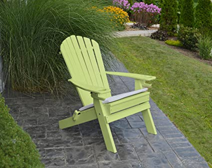 POLYWOOD ADIRONDACK CHAIR FOLDINGu20132 Two Cup Holdersu2013Foldable Poly Wood  Seating Recycled Plastic