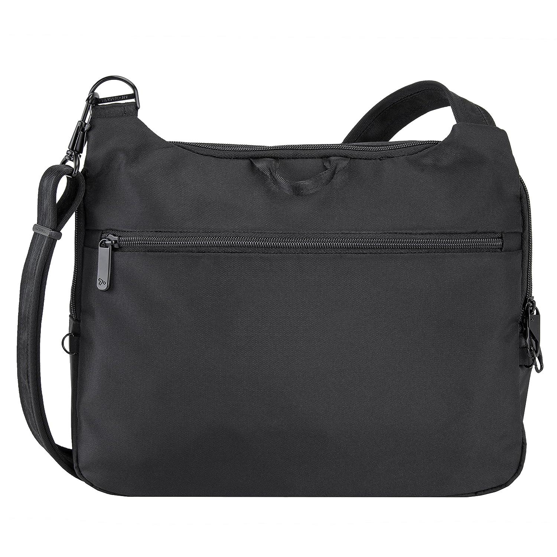 Black Travelon 43191 500 Anti-Theft Urban E//W Tablet Messenger One Size