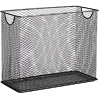 Honey-Can-Do OFC-06209 Mesh Tabletop File Holder, 5.5 x 12.5 x 9.88, Black