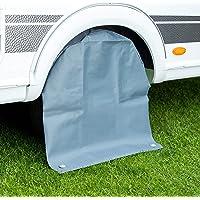 Cartrend 10685 Caravan Caravan Caravan wielhoes XL wielbescherming bandenafdekking bandentas waterdicht, voor 15 tot 17…