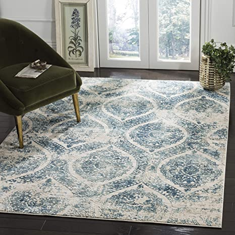 Admirable Safavieh Prn715M 8 Princeton Collection Prn715M Blue And Beige Premium Polyester Area 8 X 10 Rug Gmtry Best Dining Table And Chair Ideas Images Gmtryco