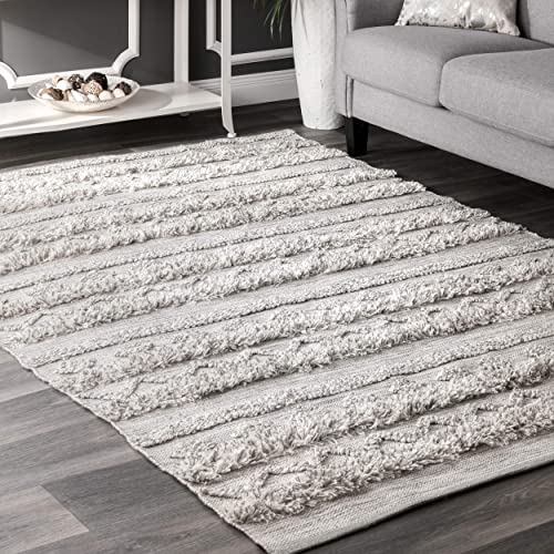nuLOOM Josiah High Low Tribal Area Rug, 4 x 6 , Grey