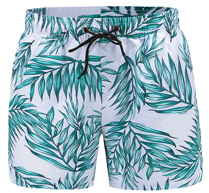 a37a4aef117f1 EBMORE® Mens Swim Trunks Shorts Quick Dry with Pockets Mesh Lining for Beach  Surfing Sport