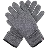Dents Men's Full Finger 3M Thinsulate Knit Gloves With Roll Over Cuff