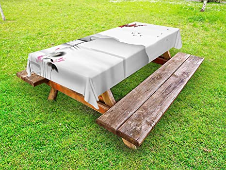 Amazon Com Lunarable Asian Outdoor Tablecloth Japanese Asian Style
