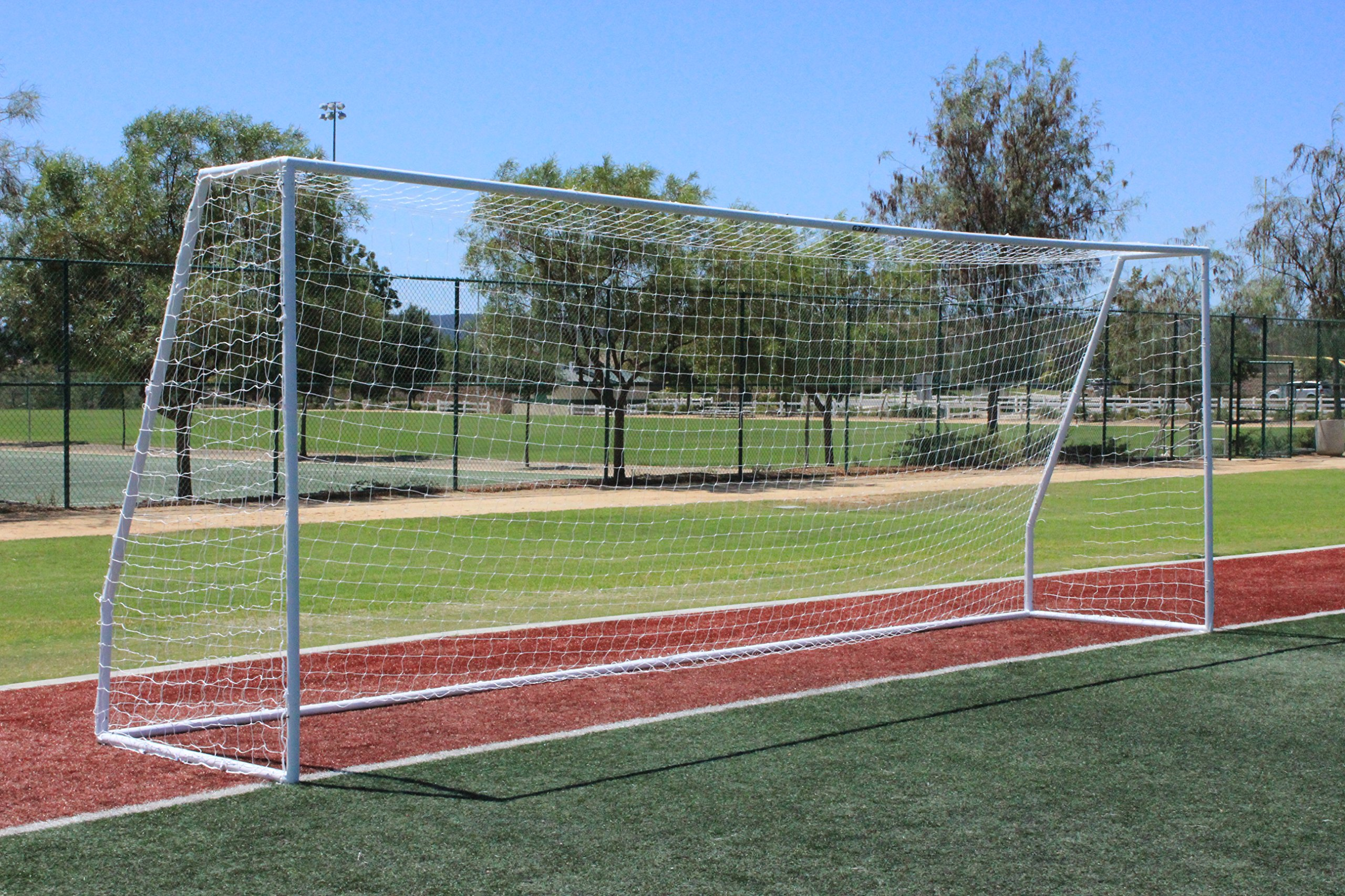G3Elite Pro 24x8 Regulation Soccer Goal (Discounted Less Than Perfect Item), (1) Net, Strongest Portable Steel Post Design w/Patented Corrosion Resistant Coating, 8'x24'x2'x4½'