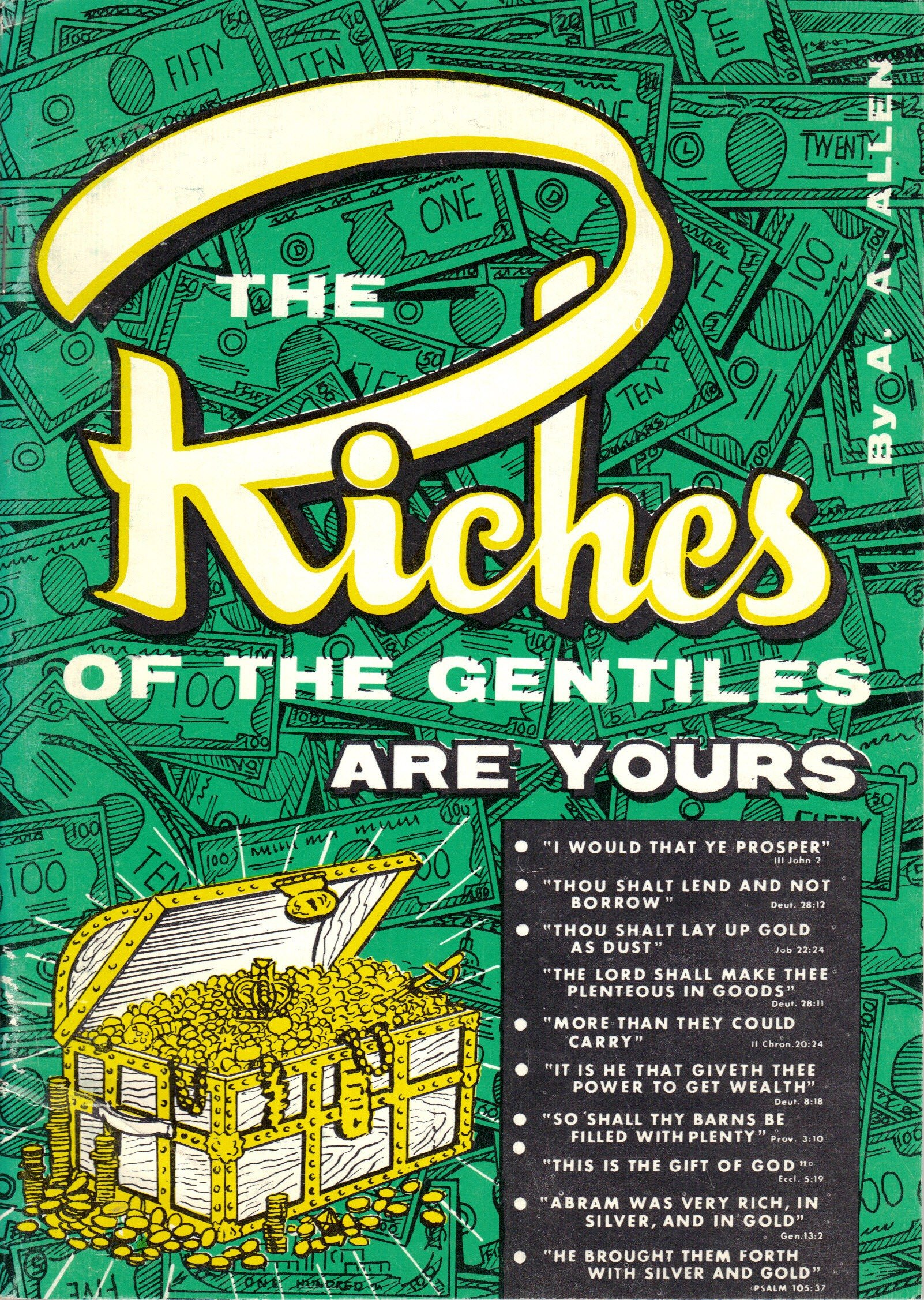 The Riches Of The Gentiles Are Yours Pamphlet – 1965