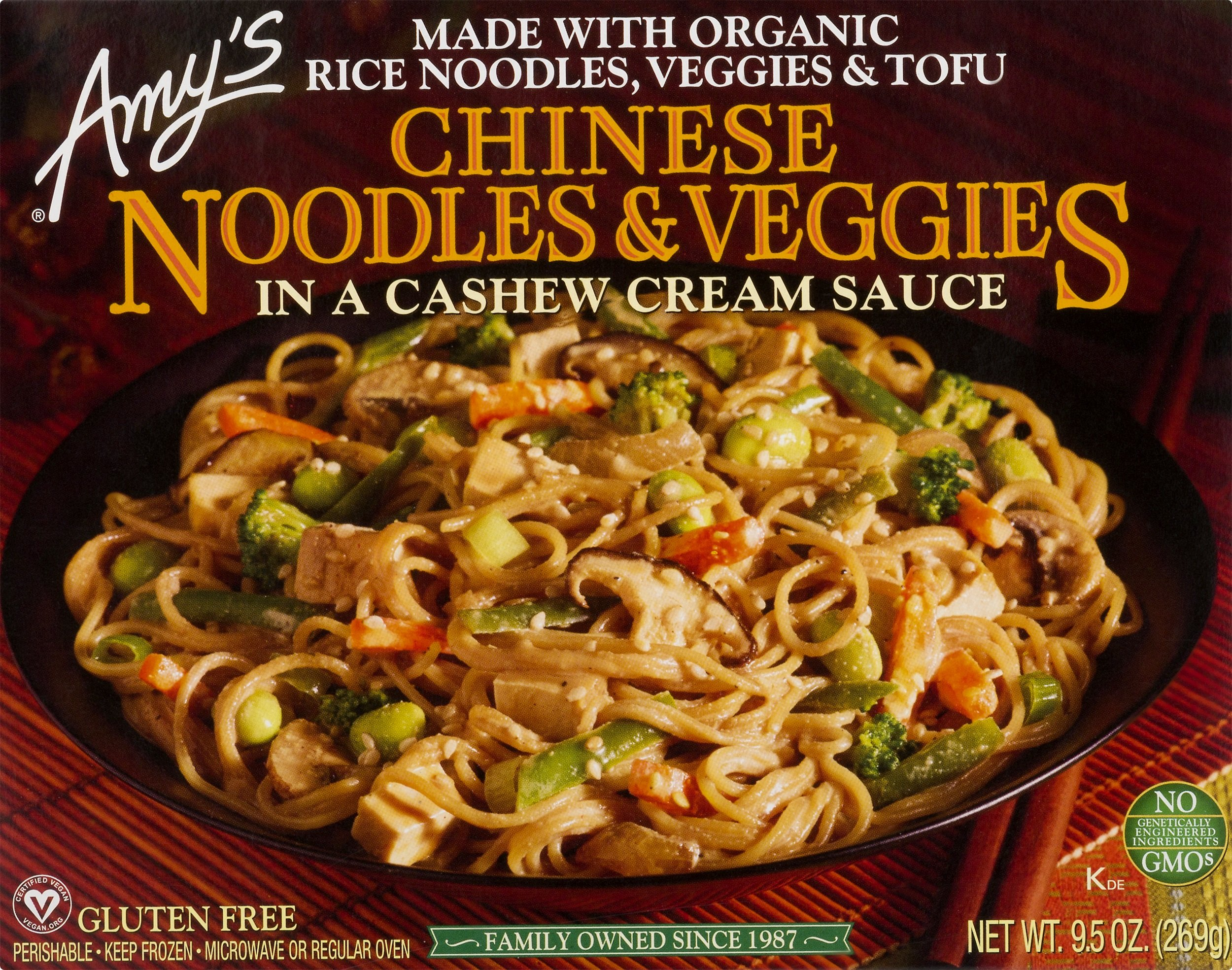 Amy's Organic Chinese Noodles and Veggies in Cashew Cream Sauce, 9.5 Ounce (Pack of 12)