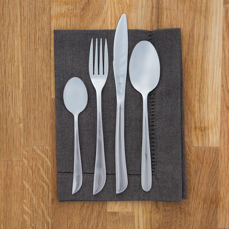 Levivo SET134839 - Juego de cubiertos de acero inoxidable, 16 piezas