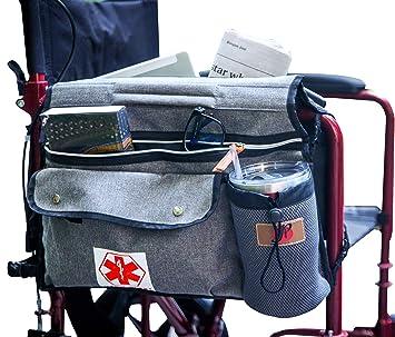 Amazon.com: P&F - Bolsa lateral para silla de ruedas (doble ...