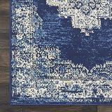 """Nourison Grafix Area Rug, 5'3""""X7'3"""", NAVY BLUE"""