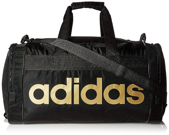 01bf74c65 Amazon.com: adidas Santiago Duffel, Black/Gold, One Size: Clothing