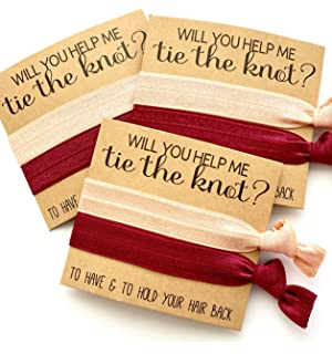USA SELLER - CHOOSE YOUR HAIR TIES - 10 Bridesmaid Proposals  82af956c837