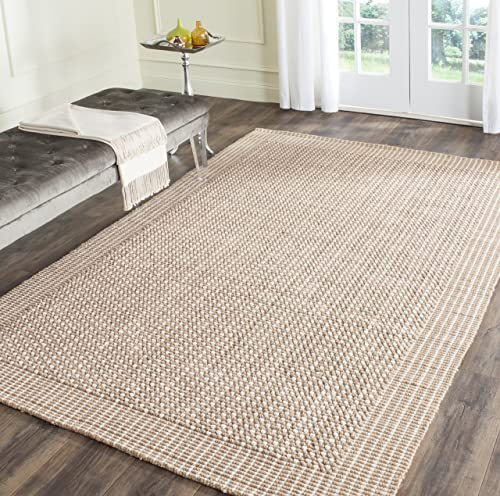 Safavieh Natural Fiber Collection NF449A St Lucia Loop Ivory and Beige Sisal Area Rug 6 x 9