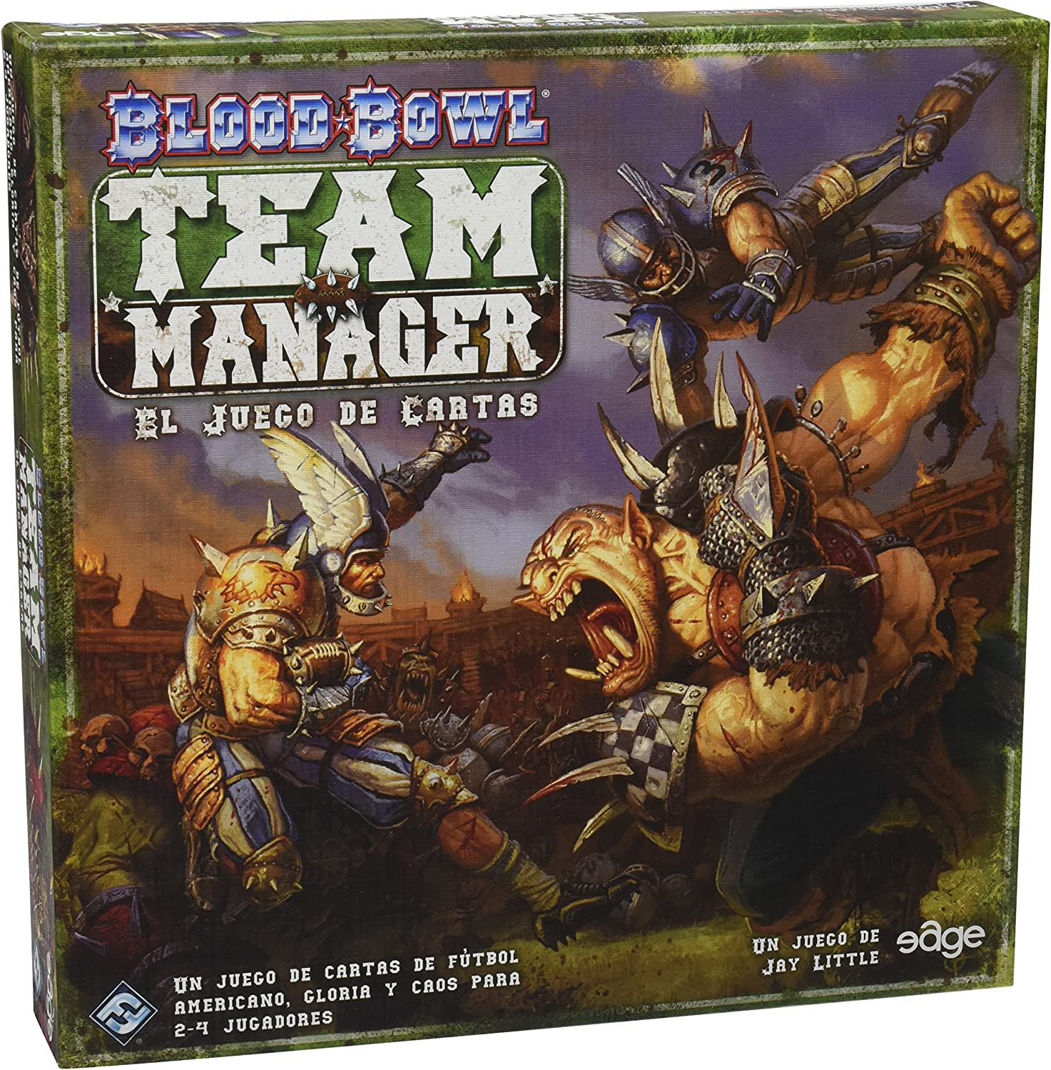 1589946901 Fantasy Flight Games Blood Bowl: Team Manager - The Card Game A1XLF6St0dL.SL1500_