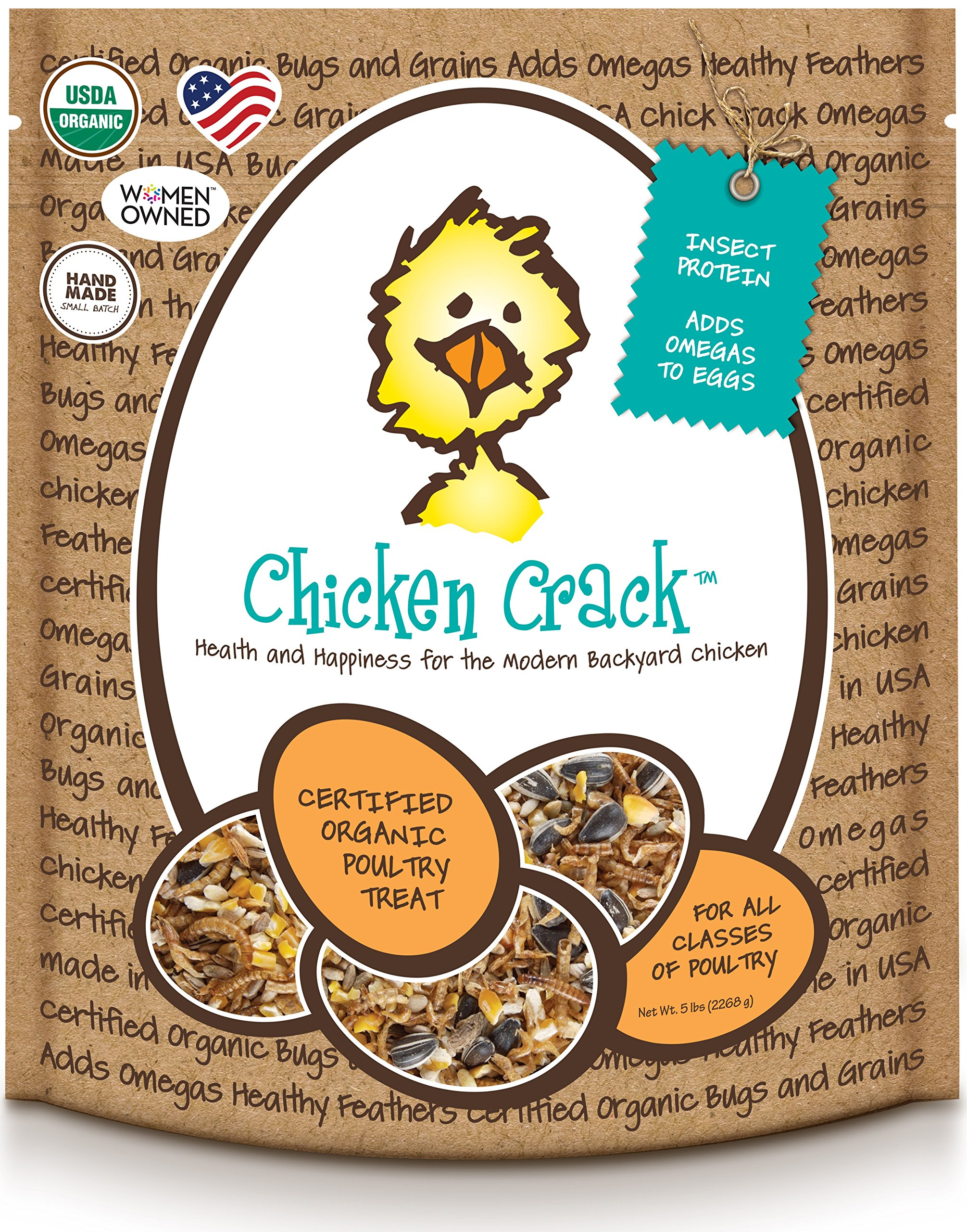 Treats For Chickens Certified Organic  Crack Treat, 5-Pound by Treats For Chickens