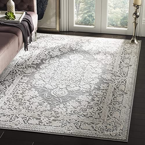 Safavieh Reflection Collection RFT664B Dark Grey and Cream Area Rug 3 x 5