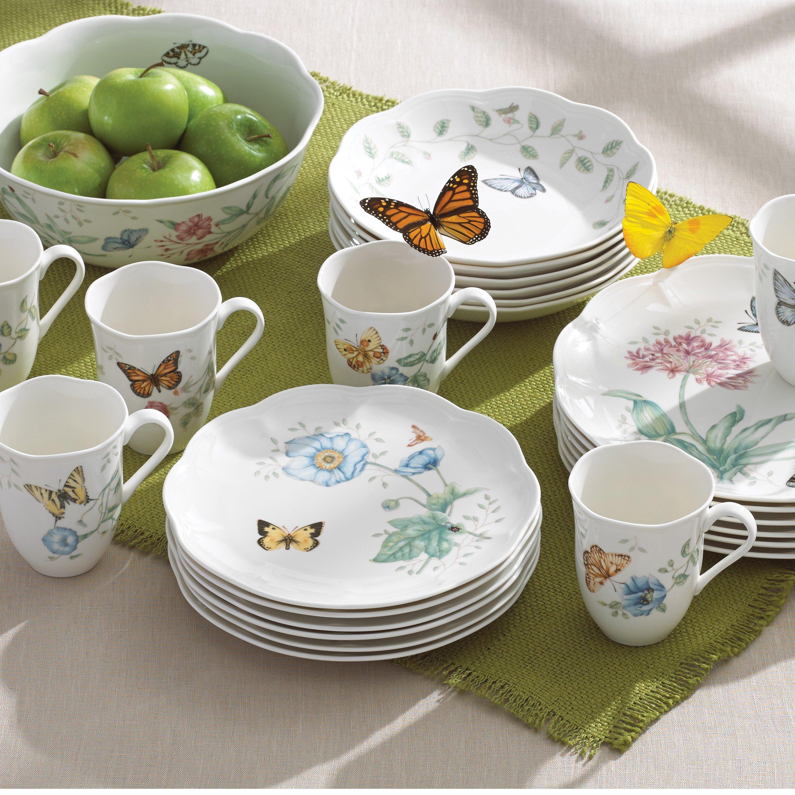 Lenox-Butterfly-Meadow-18-Piece-Dinnerware-Set-Service- & Lenox Butterfly Meadow 18-Piece Dinnerware Set Service for 6 | eBay