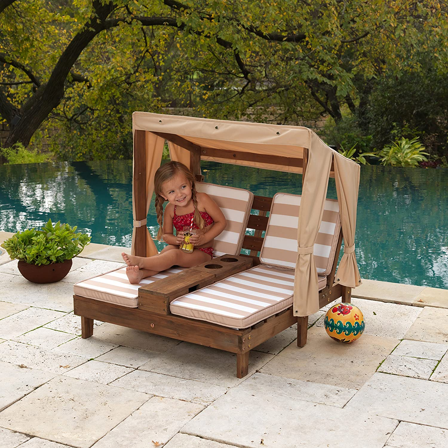 KidKraft Double Chaise Lounge with Cup Holders Just $93.08!