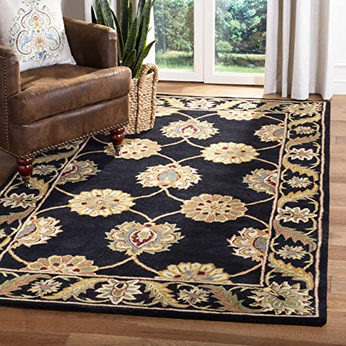 Safavieh Heritage Collection HG314A Handcrafted Traditional Oriental Black Wool Area Rug 5 x 8