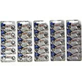 "50 Pack Maxell LR44 AG13 357 button cell battery ""NEW HOLOGRAM PACKAGE """