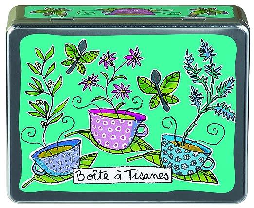 9 opinioni per Derriere La Porte, P005-M020090, Scatola per bustine di tè e tisane, in metallo,